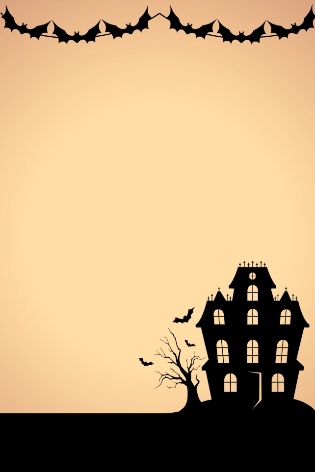 Tarjeta base para invitación halloween creada con Picmonkey