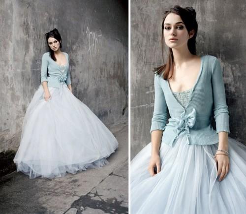 vestido novia azul