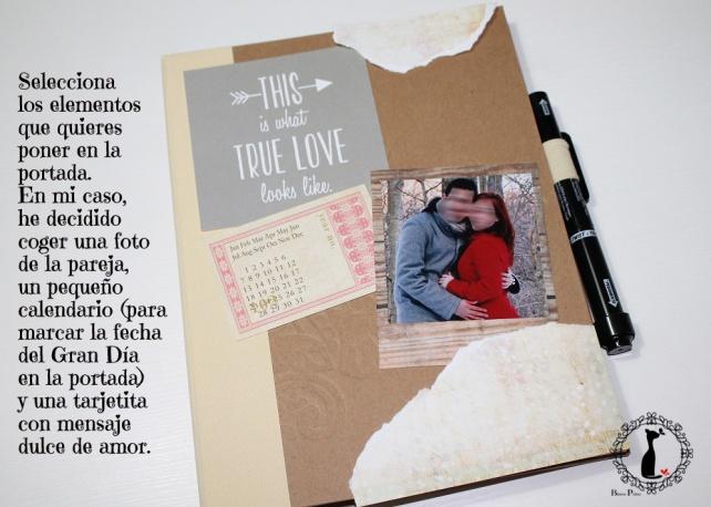 Tutorial Libro firmas para Boda con fotos 4