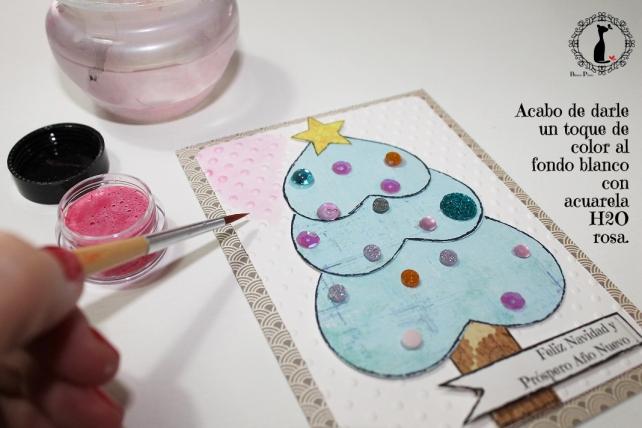 Tutorial tarjetas navidad Cinderella 24