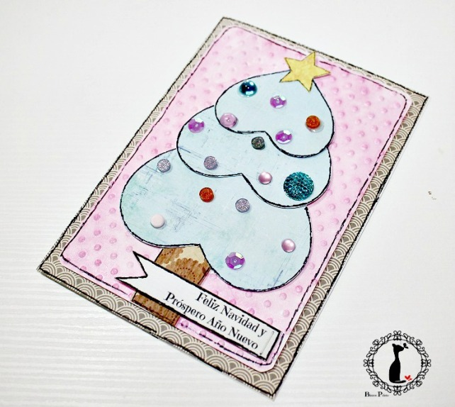 Tutorial tarjetas navidad Cinderella 25