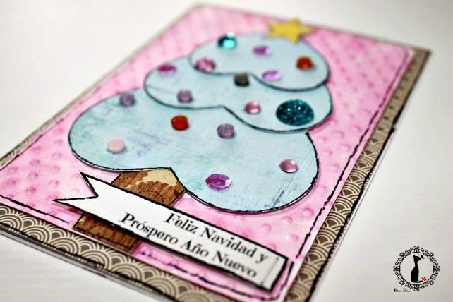 Tutorial tarjetas navidad Cinderella 26