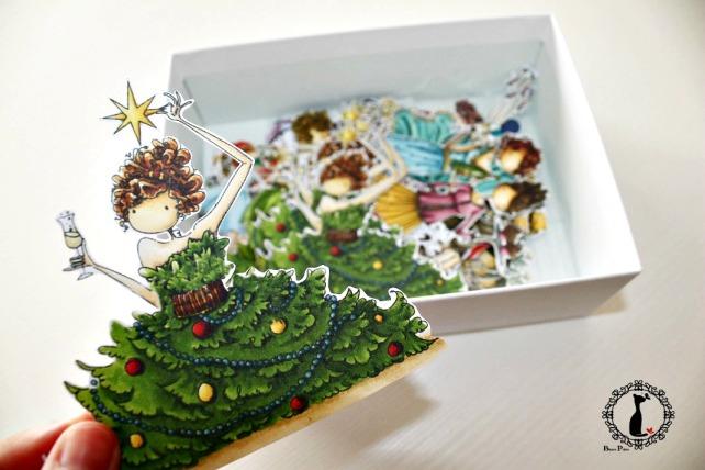 Tutorial tarjetas navidad Cinderella 5