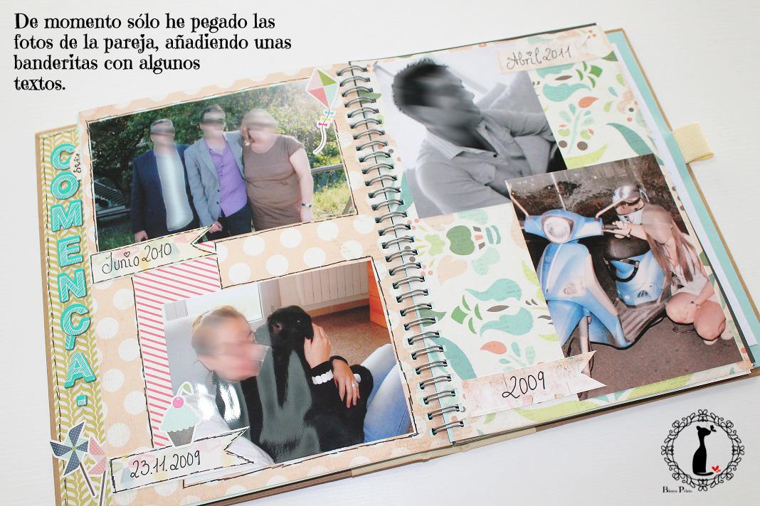 Libro de firmas boda cinderella 39 s scrap room - Hacer un album de fotos casero ...