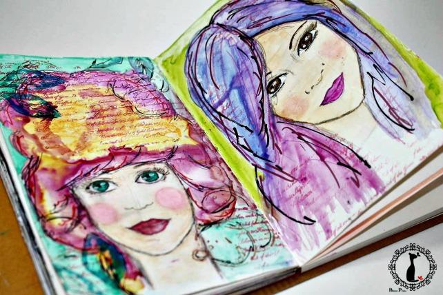 ArtJournaling Girls Cinderella 1