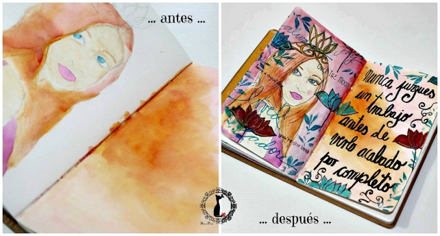 before after ArtJournaling 2