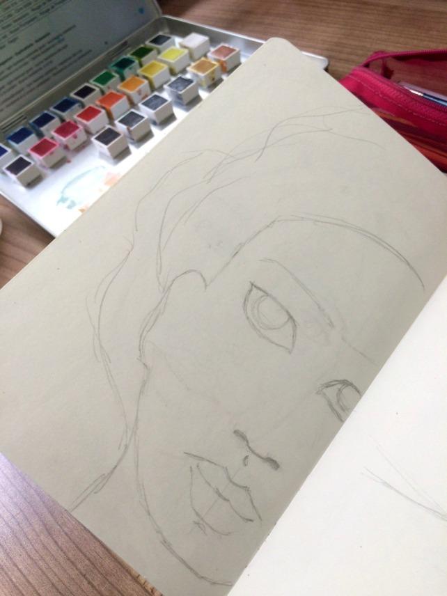 Frida Painting acuarela 1