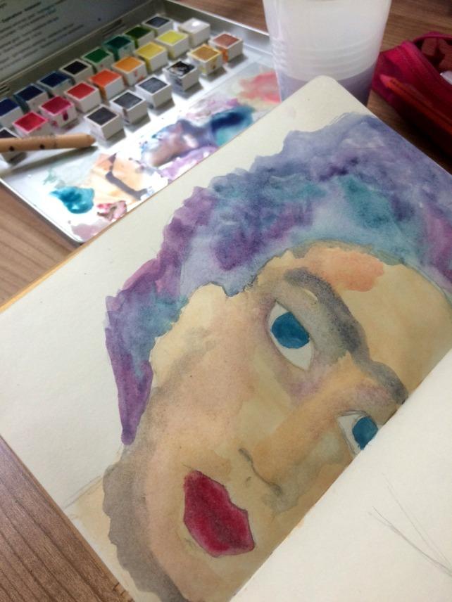 Frida Painting acuarela 2