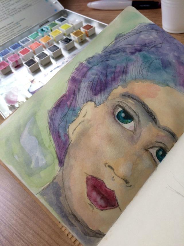 Frida Painting acuarela 3