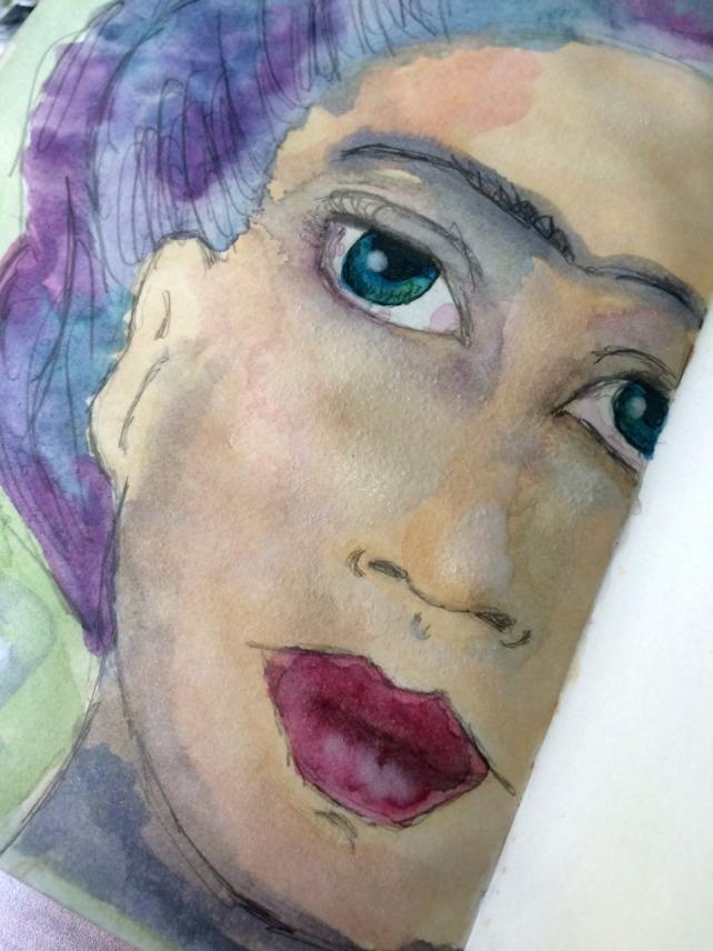 Frida Painting acuarela 4
