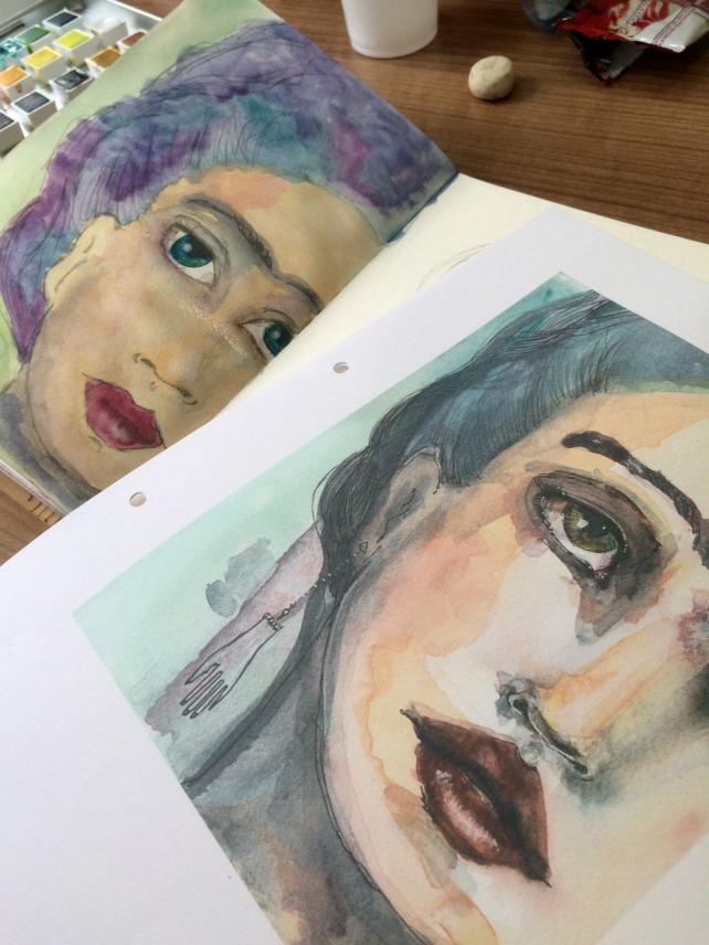 Frida Painting acuarela 5