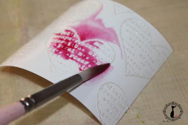 Tutorial Bienve Prieto - crear fondos transparentes con relieve y pintar con acuarela 15