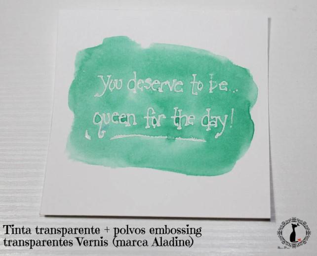 Tutorial Bienve Prieto - crear fondos transparentes con relieve y pintar con acuarela 2