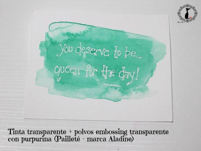 Tutorial Bienve Prieto - crear fondos transparentes con relieve y pintar con acuarela 3