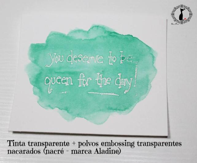Tutorial Bienve Prieto - crear fondos transparentes con relieve y pintar con acuarela 4