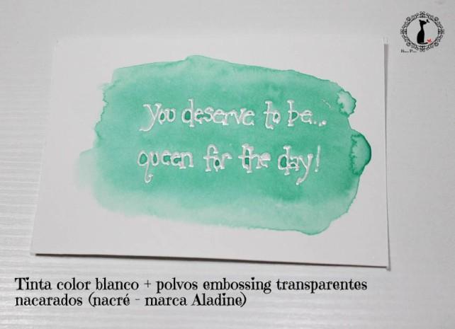 Tutorial Bienve Prieto - crear fondos transparentes con relieve y pintar con acuarela 5