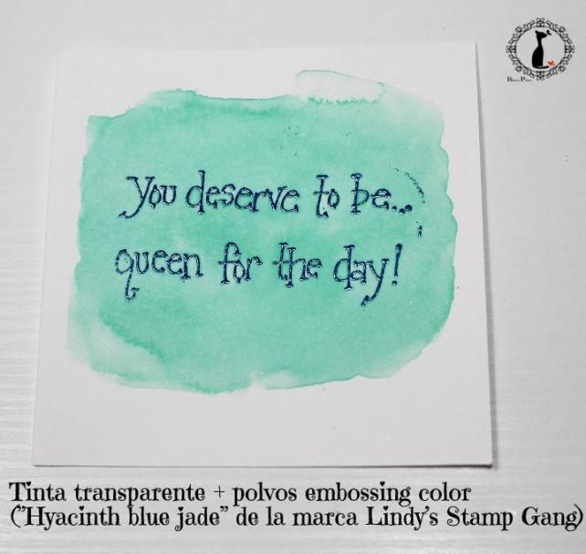 Tutorial Bienve Prieto - crear fondos transparentes con relieve y pintar con acuarela 8