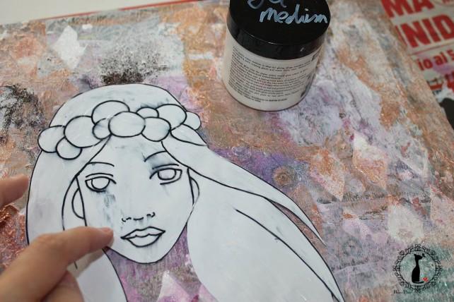Cuadro MixedMedia Cinderella Bienve Prieto 27