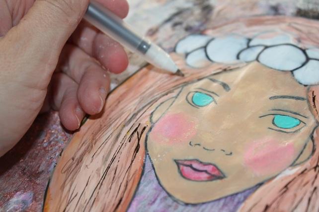 Cuadro MixedMedia Cinderella Bienve Prieto 36