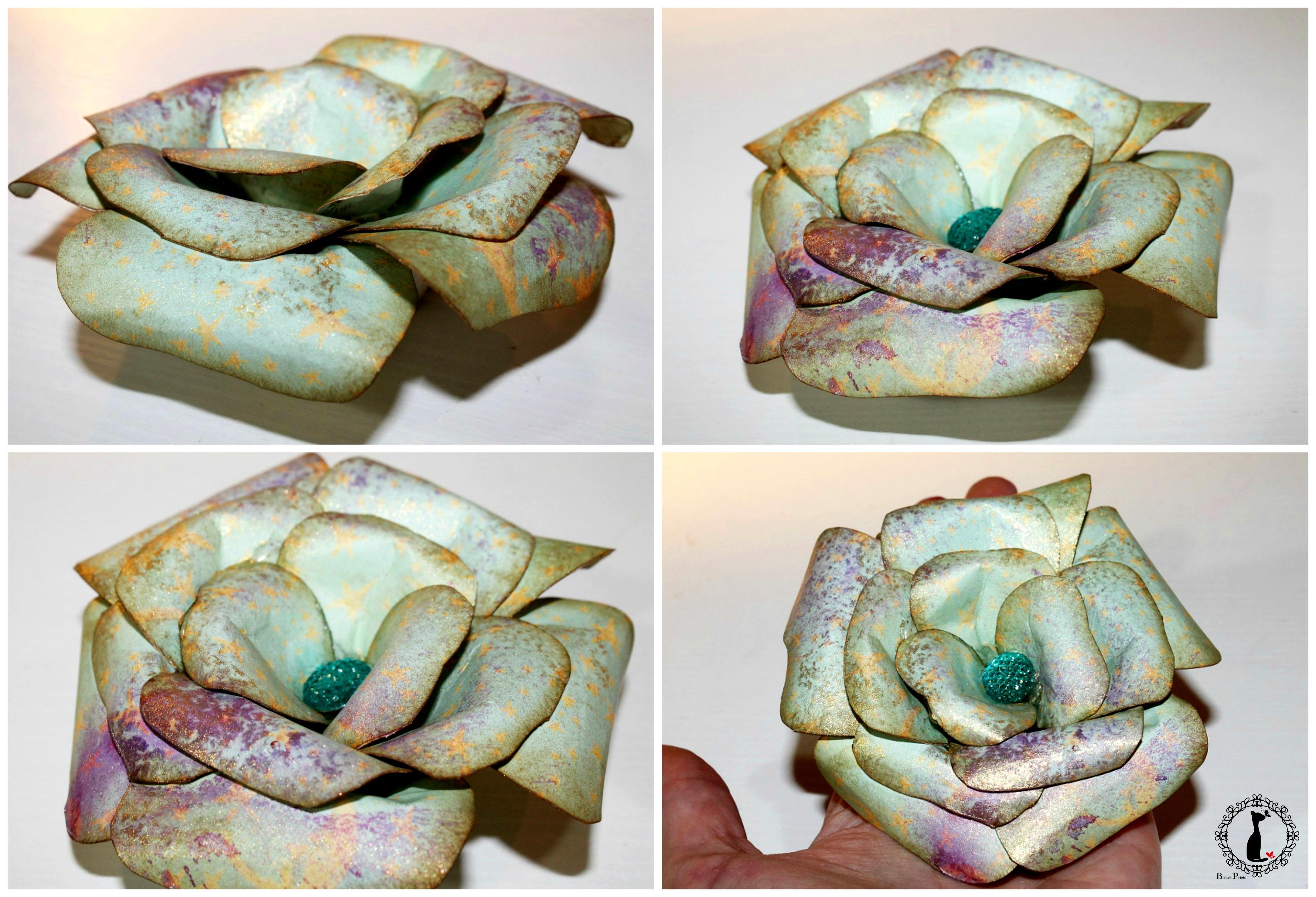 cmo hacer una rosa de papel - Como Hacer Rosas De Papel