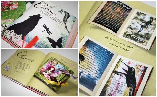 páginas capítulo CUENTOS del libro SCRAPBOOK FÁCIL, proyectos paso a paso
