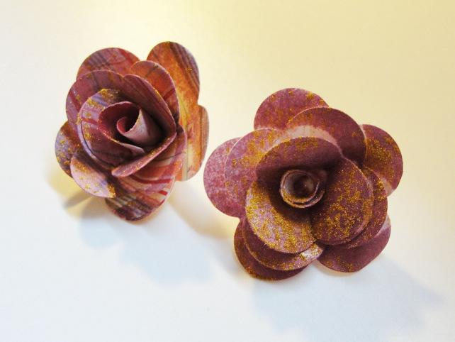 flores de papel hechas a mano