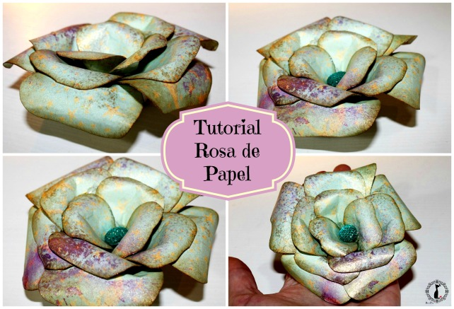 Tutorial como rosa de papel