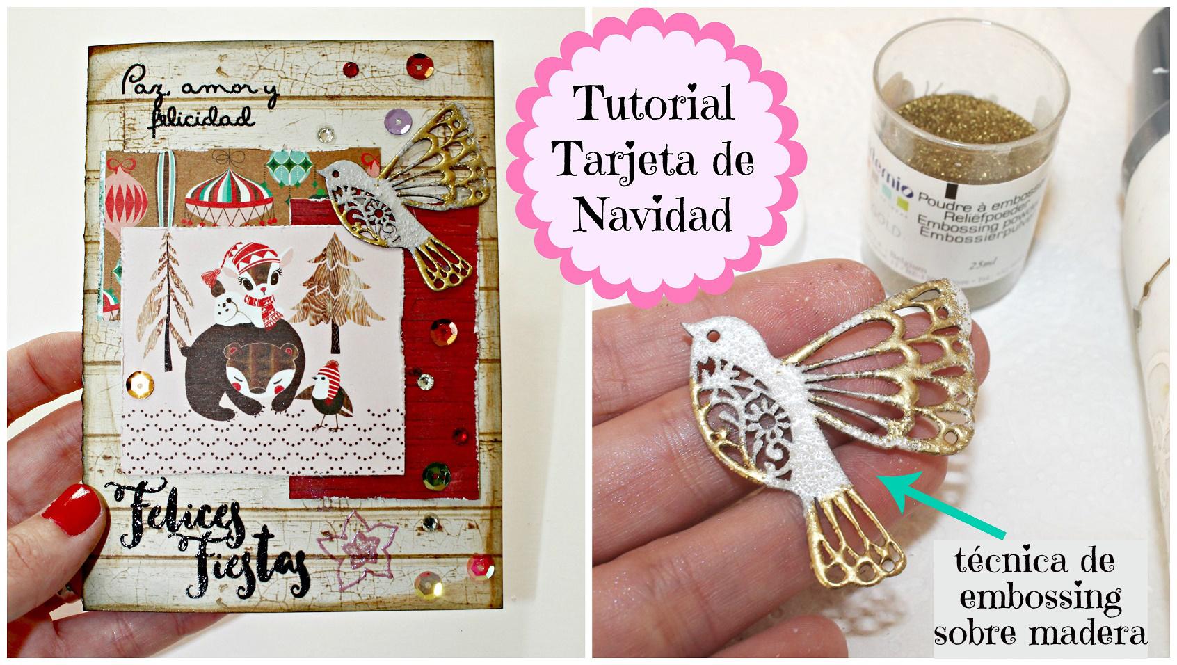 Tarjeta navidea original tarjeta navidad christmas with - Como hacer una felicitacion de navidad original ...