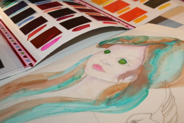 Peerless watercolor reseña y tutorial Bienve Prieto 19