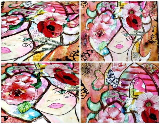 cartel taller cuadro mixedmedia 4 fotos