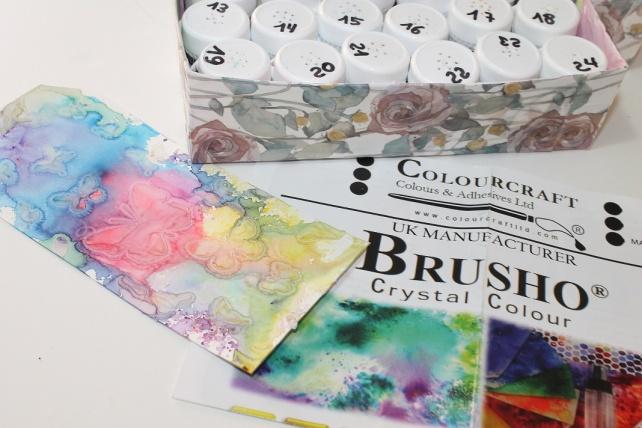 Caja 24 colores Brusho Crystal Colour 12