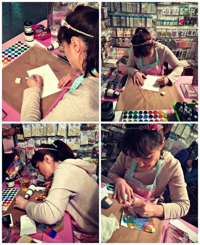 bienve prieto haciendo demos en handmade 2016