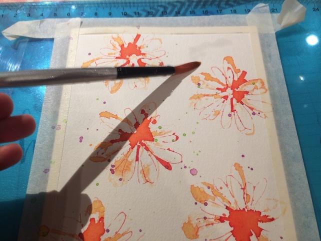 Tutorial tarjeta pintada con acuarelas 12
