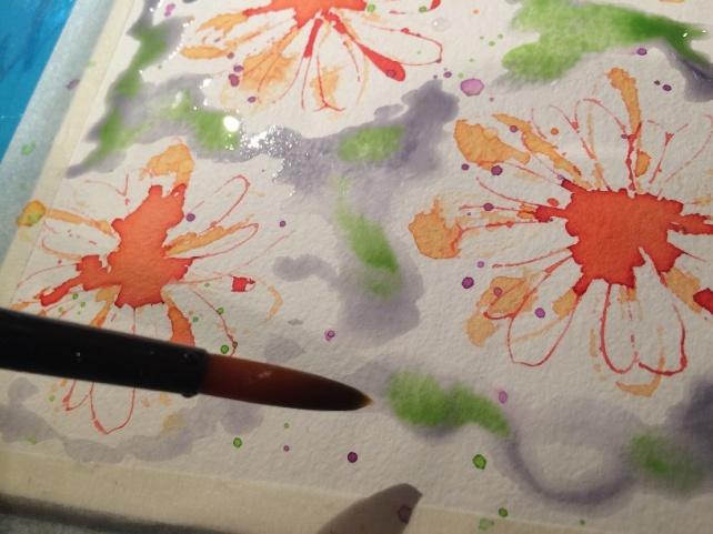 Tutorial tarjeta pintada con acuarelas 15