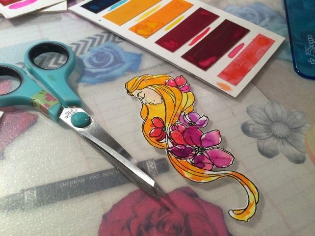 Tutorial tarjeta pintada con acuarelas 18