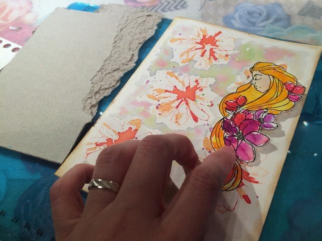 Tutorial tarjeta pintada con acuarelas 20