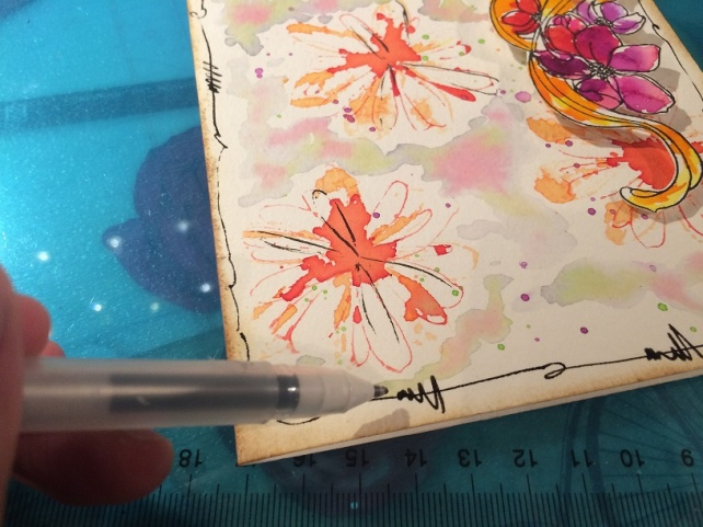 Tutorial tarjeta pintada con acuarelas 21