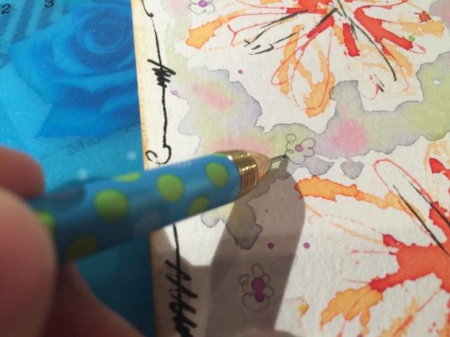 Tutorial tarjeta pintada con acuarelas 22