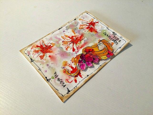 Tutorial tarjeta pintada con acuarelas 27