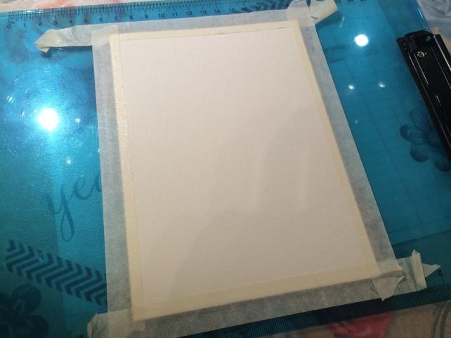 Tutorial tarjeta pintada con acuarelas 3