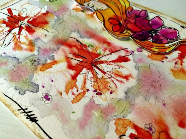 Tutorial tarjeta pintada con acuarelas 30