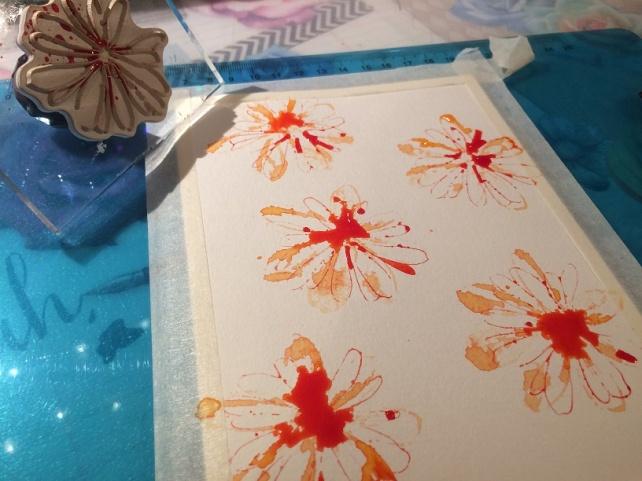 Tutorial tarjeta pintada con acuarelas 9