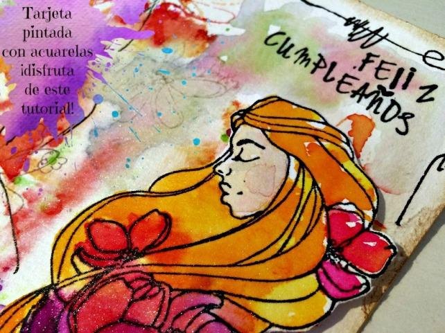 Tutorial tarjeta pintada con acuarelas