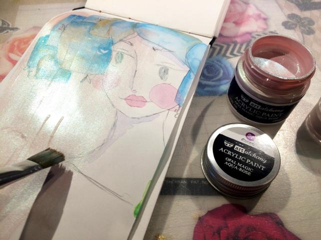 Art Alchemy Acrylic Paint Prima vs SILKS Luminarte 8