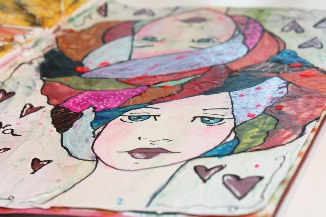Reina de Corazones Pop - tutorial artjournal 10