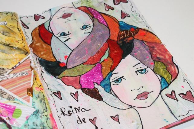 Reina de Corazones Pop - tutorial artjournal 11