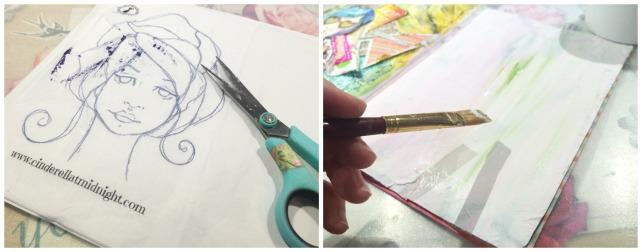 Reina de Corazones Pop - tutorial artjournal 2