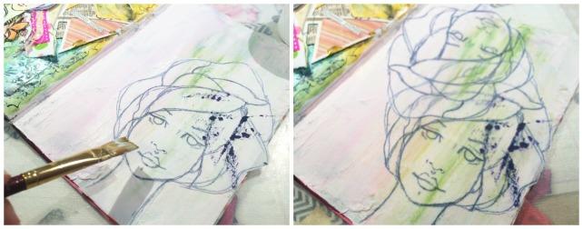 Reina de Corazones Pop - tutorial artjournal 3