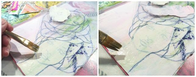Reina de Corazones Pop - tutorial artjournal 5