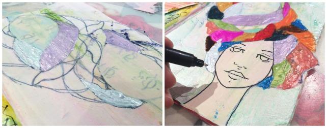 Reina de Corazones Pop - tutorial artjournal 6